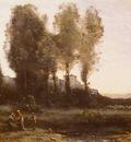 Corot Jean Baptiste Camille Le Monastere Derriere Les Arbres