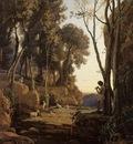 Corot Landscape Setting Sun aka The Little Shepherd