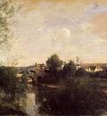 Corot Old Bridge at Limay on the Seine