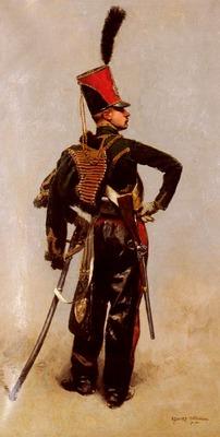 Detaille Jean Baptiste Edouard A Napoleonic Officer
