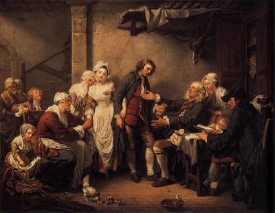 GREUZE Jean Baptiste L Accordee de Village