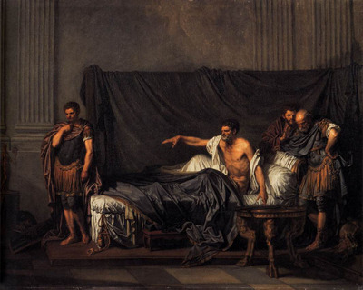 GREUZE Jean Baptiste Septimius Severus and Caracalla