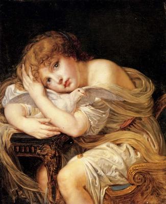 Greuze Jean Baptiste La Jeune Fille A La Colombe