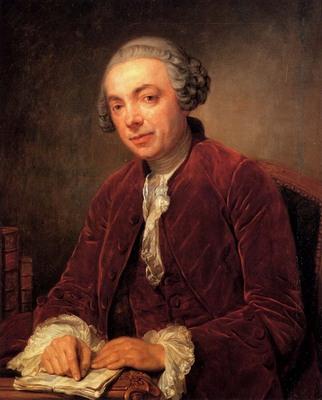 Greuze Jean Baptiste Portrait Of Abraham De Roquencourt