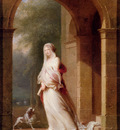 Mallet Jean Baptiste A Young Woman Standing In An Archway