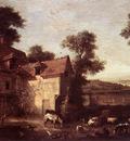 OUDRY Jean Baptiste Farmhouse