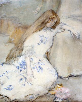 Raffaelli Jean Francois A Young Girl Resting