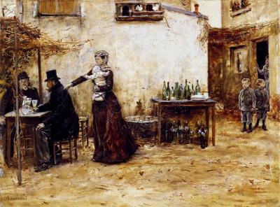 Raffaelli Jean Francois Les Habiitues De Cafe