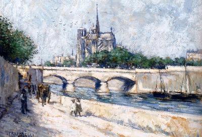 Raffaelli Jean Francois Notre Dame Paris