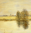 Raffaelli Jean Francois A River Landscape