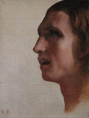 Flandrin Hippolyte Tete d homme de profil