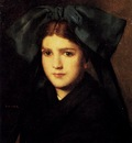Hener Jean Jacques A Portrait Of A Young Girl With A Box In Her Hat