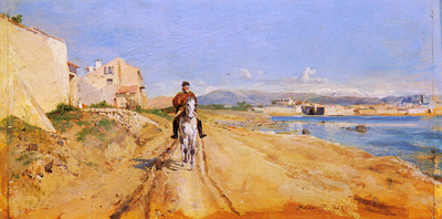 Meissonier Jean Louis Ernest Self Portrait Along The Route De La Salice Antibes
