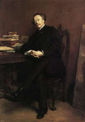 Portrait of Alexandre Dumas Jr 1877 24 5x16 5in