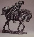 Marshal Ney on Horseback Fighting the Wind