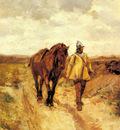 Meissonier Jean Louis Ernest Un Homme D Armes Et Son Cheval