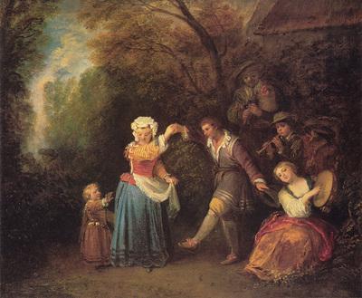 Watteau La Danse Champetre