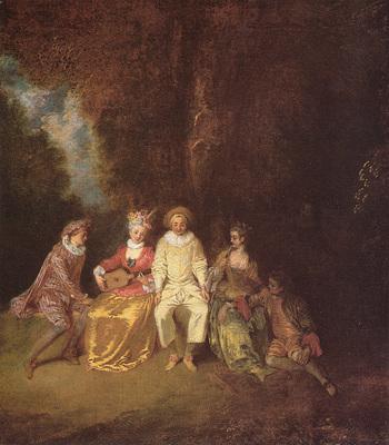 Watteau Pierrot content