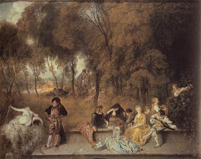 Watteau Reunion en plein air