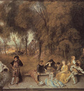 Watteau Reunion en plein air