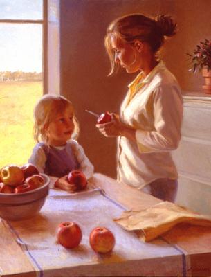 Larson Jeffrey 2000 Autumn Apples 24by30in