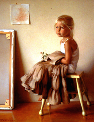 Larson Jeffrey 2000 Portrait Of The Artist daughter, Sophia Rose 36by44in