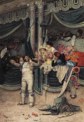 Vibert Jean Georges The Bullfighter s Adoring Crowd