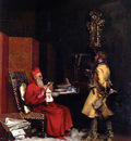 Jean Georges Vibert Un Secret D etat 1875 Private Collection