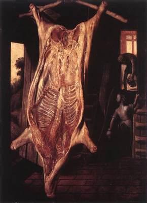 BEUCKELAER Joachim Slaughtered Pig
