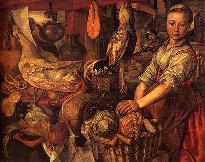 Bueckelaer Joachim Interior Of A Kitchen