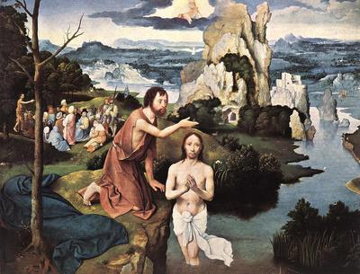 PATENIER Joachim Baptism Of Christ