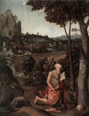 PATENIER Joachim Rocky Landscape With Saint Jerome