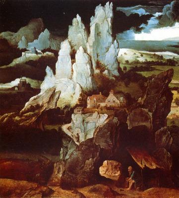 Patenier Joachim St Jerome In A Rocky Landscape