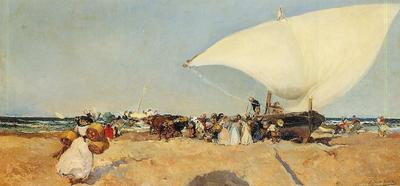 Sorolla y Bastida Joaquin Arrival of the Boats