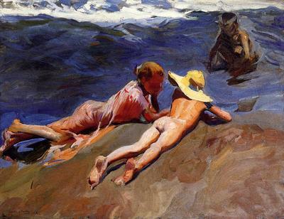 Sorolla y Bastida Joaquin On the Sand Valencia Beach