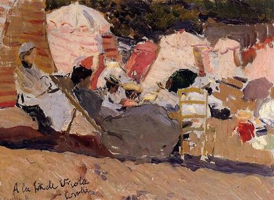 Sorolla y Bastida Joaquin The Beach at Biarritz