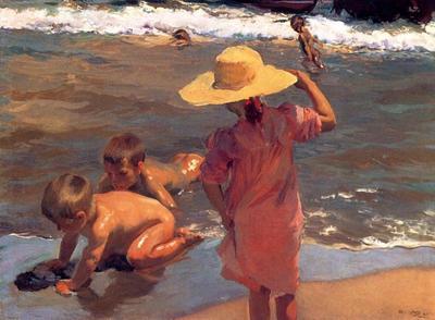 Sorolla y Bastida Joaquin The Young Amphibians