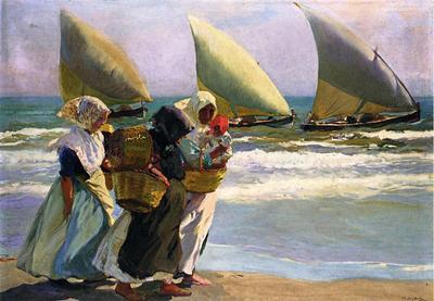 Sorolla y Bastida Joaquin Three Sails