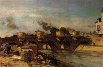 Jongkind Johan Berthold Fire on Pont Neuf