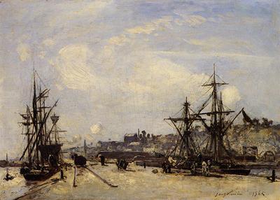 Jongkind Johan Berthold Honfleur the Railroad Dock