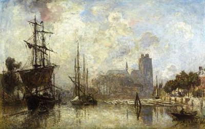 Jongkind Johan Berthold The Port of Dordrecht