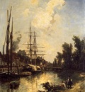 Jongkind Johan Berthold Boats Dockside