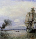 Jongkind Johan Berthold Leaving the Port of Honfleur