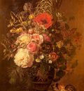 Jensen Johan Laurentz A Still Life With FlowersIn A Greek Vase