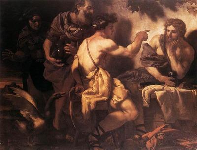 LOTH Johann Karl Jupiter And Mercury At Philemon And Baucis