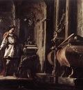SCHONFELD Johann Heinrich Alexander The Great Before The Tomb Of Achilles