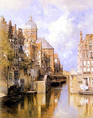 Klinkenberg Johannes Christiaan Karel The Oudezijdsvoorburgwal Amsterdam