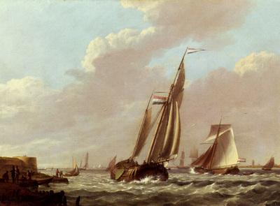 Koekkoek Jan Hermanus Shipping In A Choppy Estuary