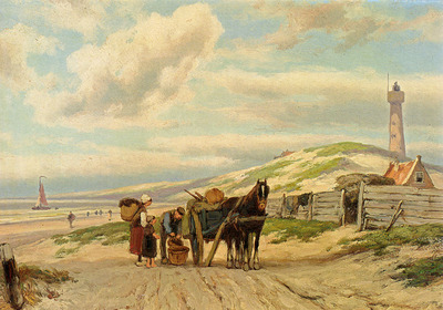 Koekkoek Johannes Hermanus Barend Returning Home