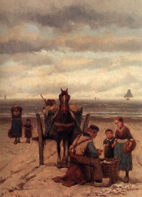 Koekkoek Johannes Hermanus The Shell fisher